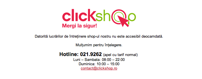 Clickshop Black Friday 2012 online