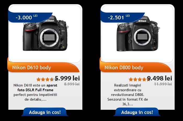 Promotie Nikon D610 D800