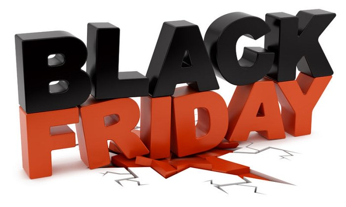 Black Friday logo negru rosu