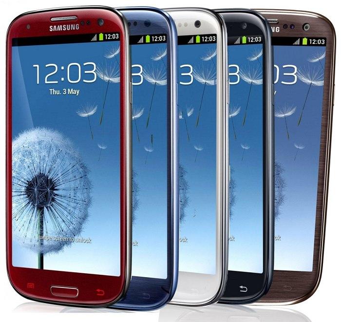 Smartphone Samsung Galaxy S3 culori