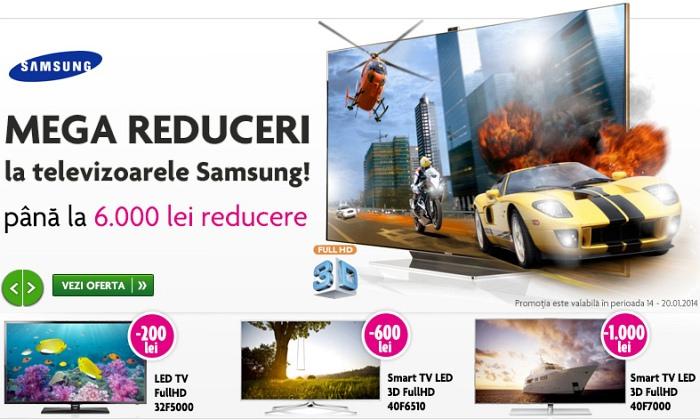 Mega reduceri la televizoare LED Samsung