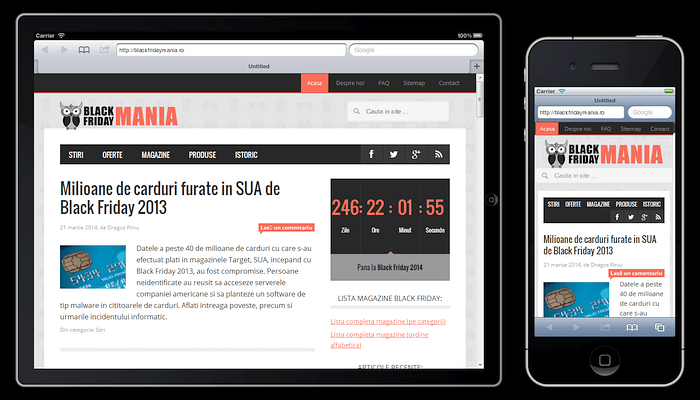 Design responsive: Black Friday Mania