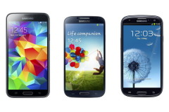 Samsung Galaxy S5 vs S4 vs S3