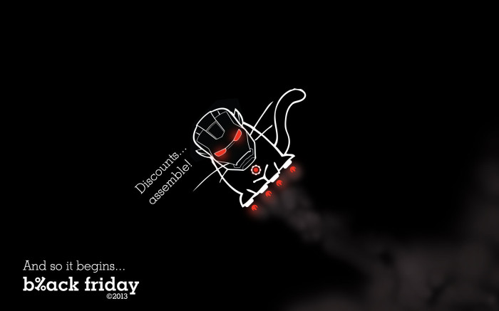 Black Cat Iron Man wallpaper eMAG Black Friday 2013