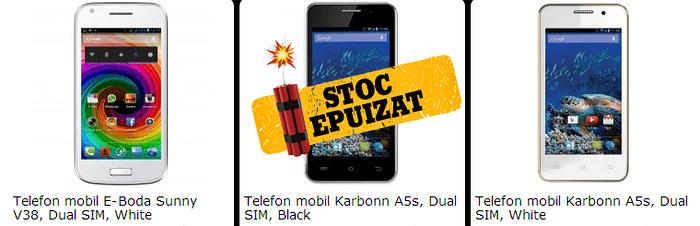 Telefon Kartbon A5s stoc epuizat