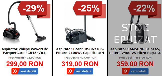 Aspiratoare MartketOnline Black Friday 2013