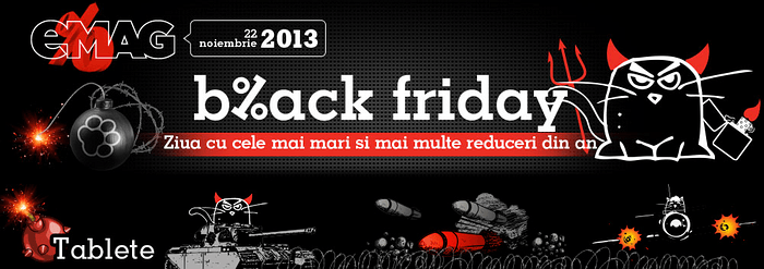 Banner eMAG Black Friday 2013 tablete