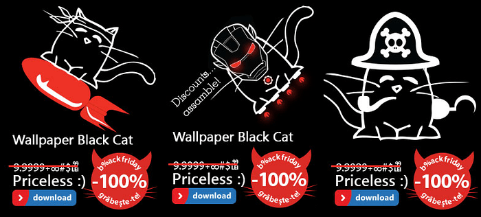 Wallpaper Black Cat Black Friday 2013