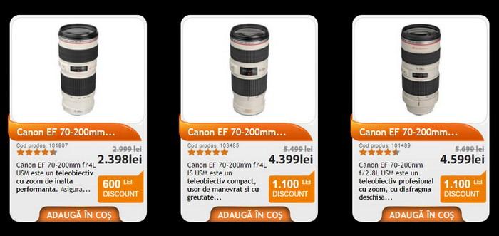 Black Friday PRO F64 obiective Canon