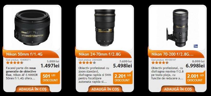 Black Friday PRO F64 obiective Nikon
