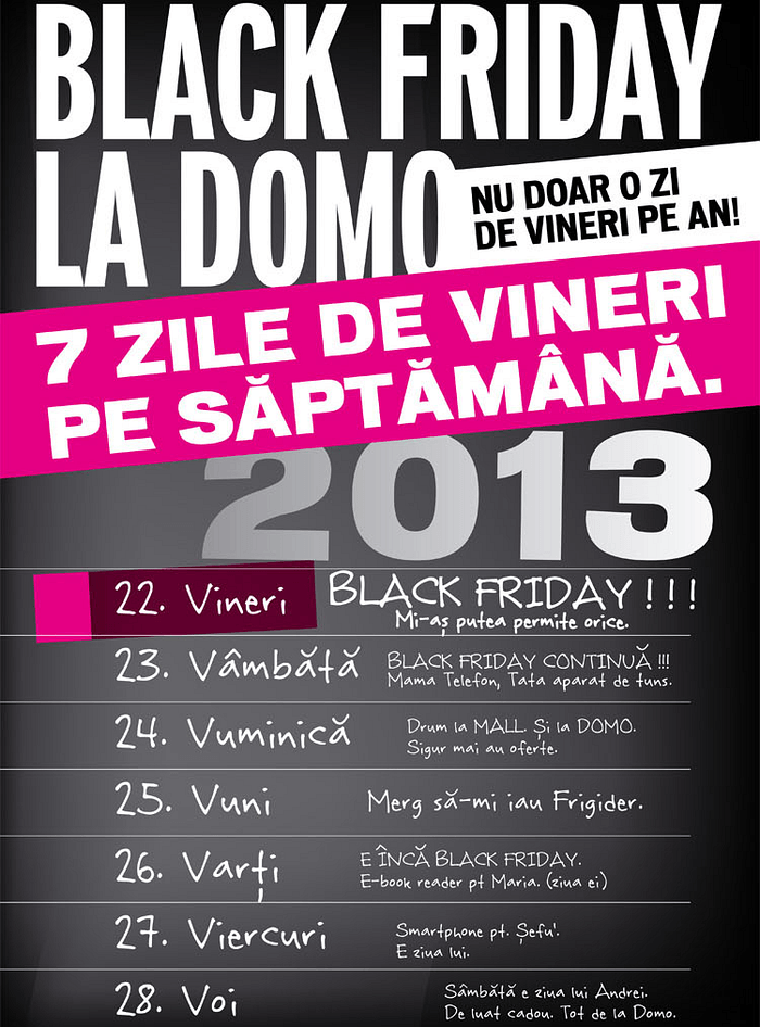 Black Friday 2013 la DOMO