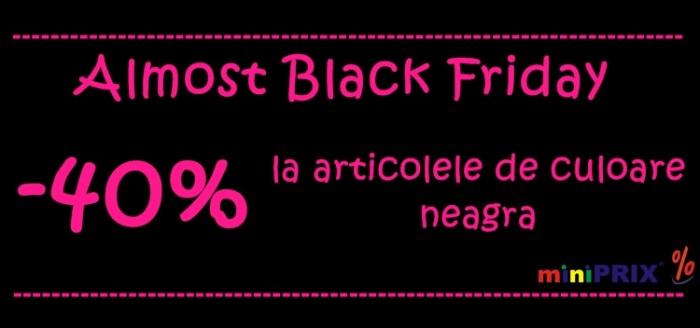 Pink Friday miniPRIX reducere haine culoare neagra
