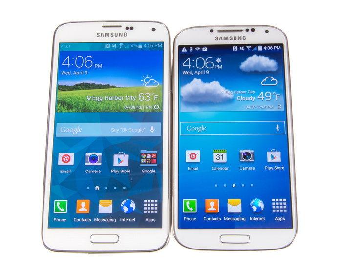 Samsung Galaxy S5 vs S4