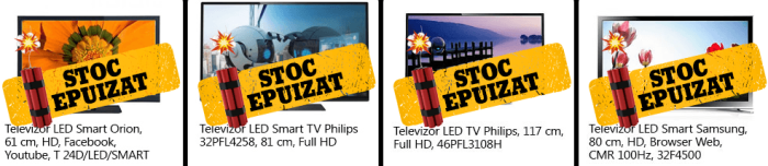 Stoc epuizat TV LED Black Friday 2013