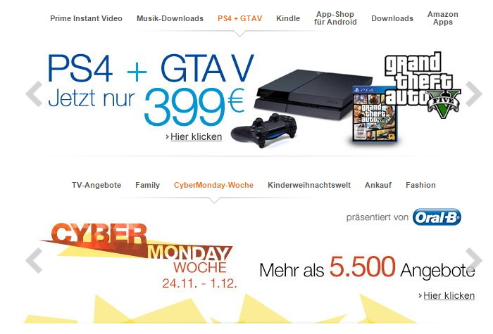 Amazon. DE Black Friday 2014