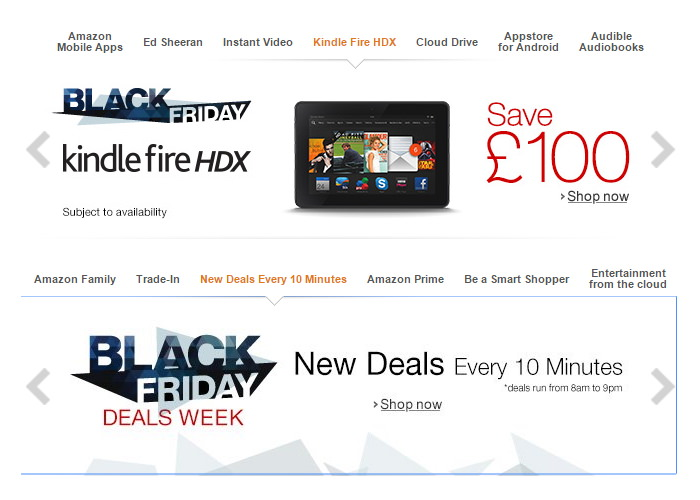 Amazon UK Black Friday 2014