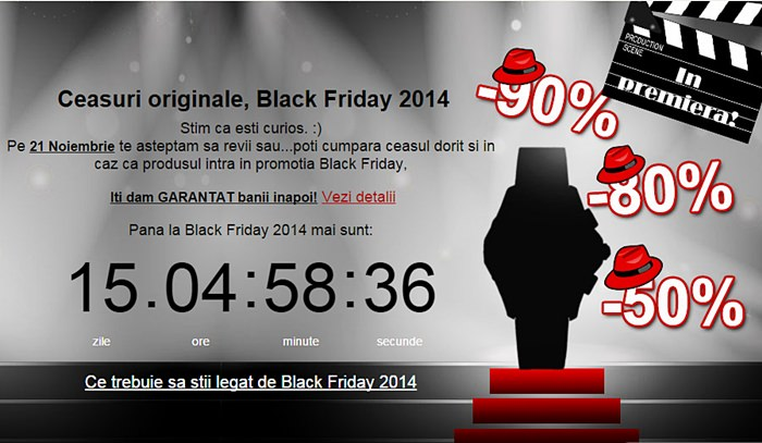 Ceasuri originale de Black Friday 2014
