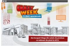 Crazy Week 2014 la evoMAG: 5 zile de reduceri multe!