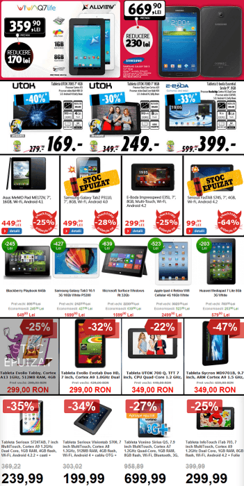 Tablete Black Friday 2013