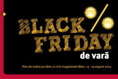 Black Friday de vara incepe la Altex pe 13 august