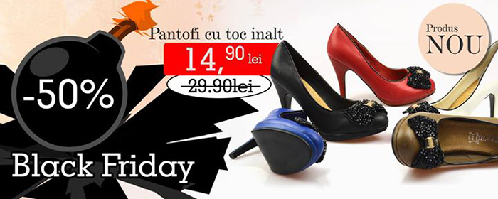 Oferta pantofi toc Black Friday 2014 Kalapod