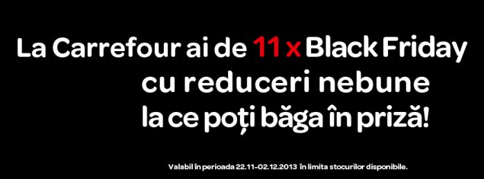 Black Friday la Carrefour in 2013