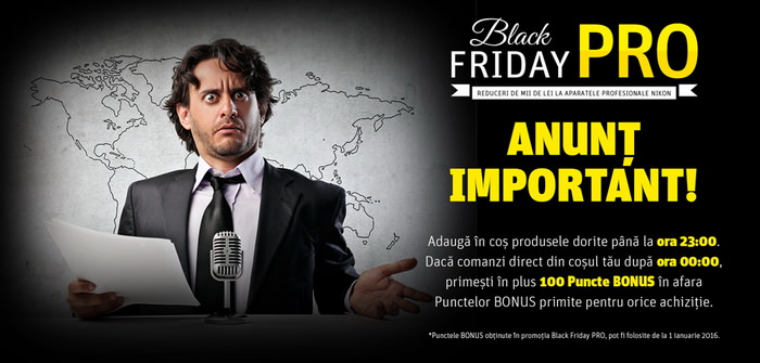Black Friday PRO 2015 YellowStore puncte bonus