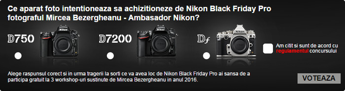 Chestionar Nikon Black Friday PRO 2015 Nikonisti