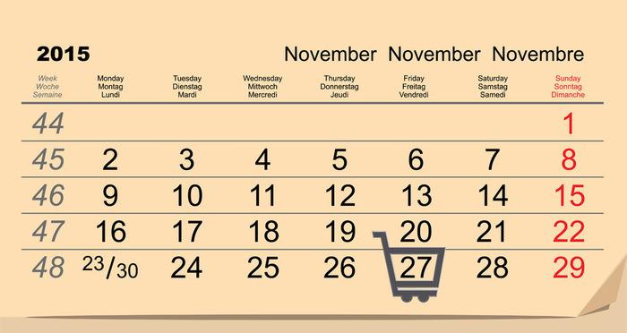Data oficiala Black Friday 2015 calendar