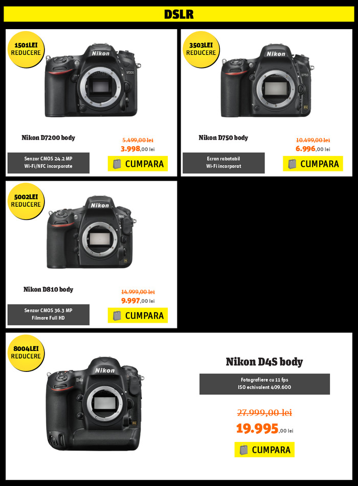 DSLR Nikon YellowStore Black Friday PRO 2015