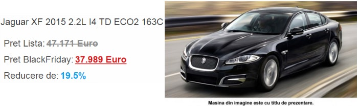 Jaguar XF Black Friday 2014 SensoDays