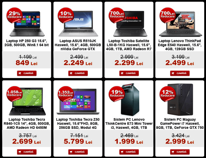 Laptop PC evoMAG Black Friday 2014