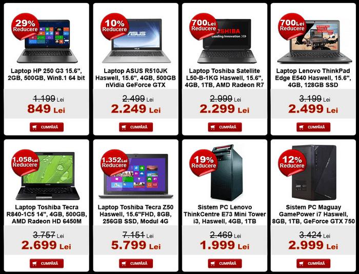 Laptop PC evoMAG Black Friday 2014