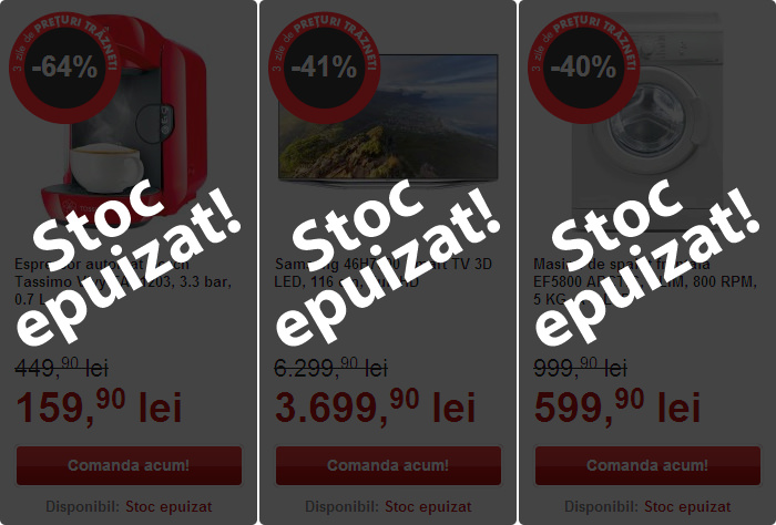 Stoc epuizat Black Friday 2014 Flanco