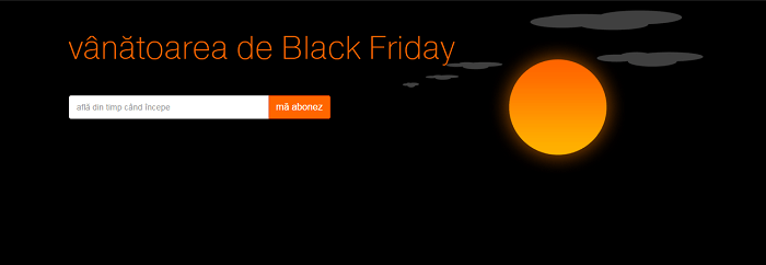 Vanatoarea Black Friday 2015 la Orange
