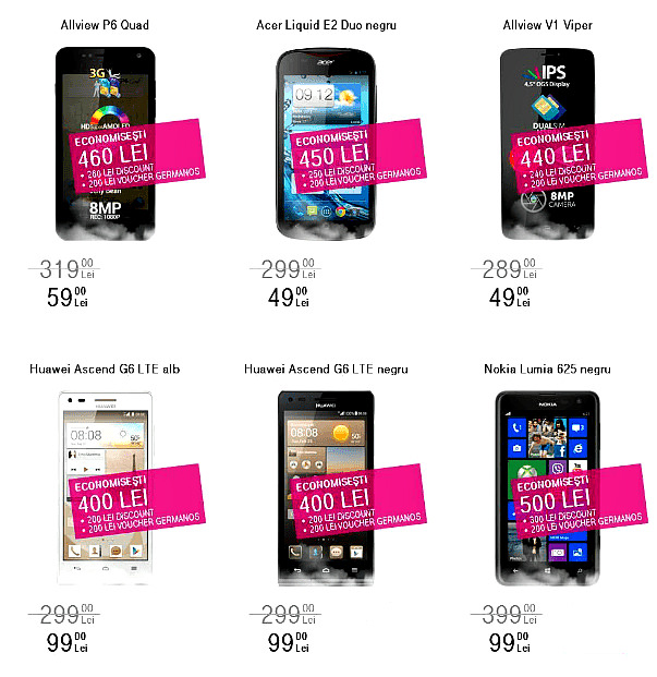 Allview Huawei Nokia Black Friday 2014 Telekom