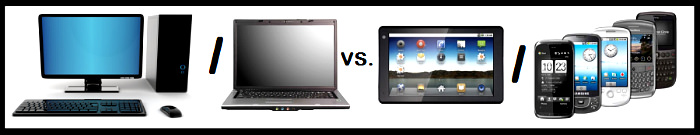 Desktop/laptop vs tableta/smartphone
