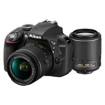 Kit Nikon D3300 + AF-P 18-55 VR + 55-200 VR II