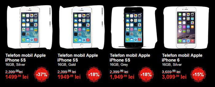 iPhone 5S iPhone 6 Black Friday 2014 eMAG