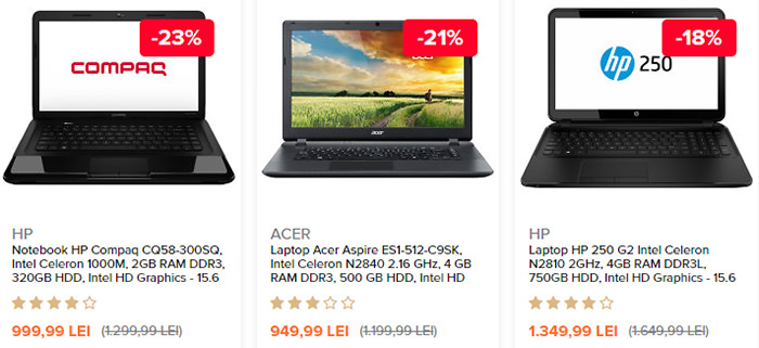 Laptopuri Black Friday 2015 Elefant