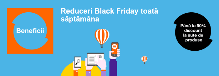 Reduceri toata saptamana Black Friday 2015 Orange