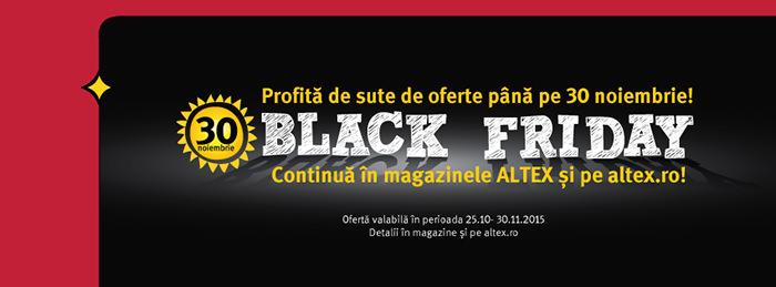 Reduceri Black Friday 2015 Altex 30 noiembrie