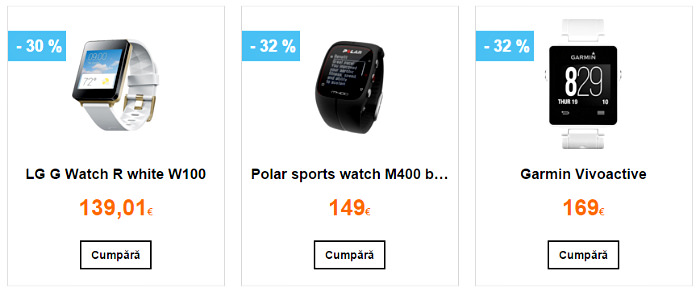 Smartwatch-uri in oferta Orange Black Friday 2015