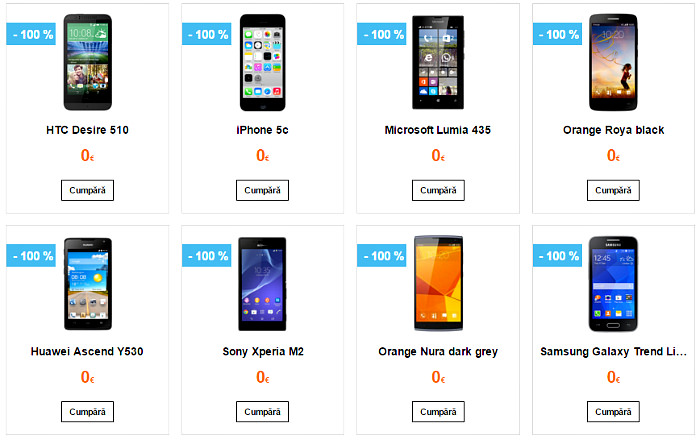 Telefoane gratuite in oferta Black Friday 2015 Orange