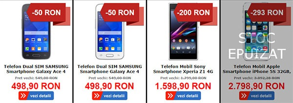 Telefoane MarketOnline Black Friday 2014