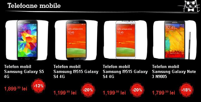 Telefoane Samsung Black Friday 2014 eMAG