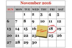 18 noiembrie Black Friday 2016