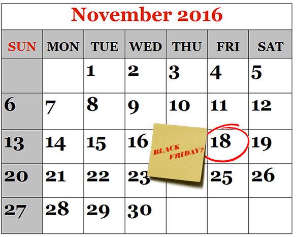 Black Friday 2016 18 noiembrie