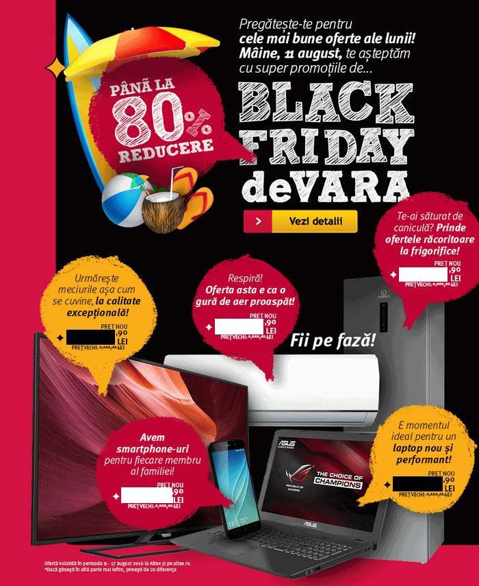 oferte altex black friday 2016 de vara