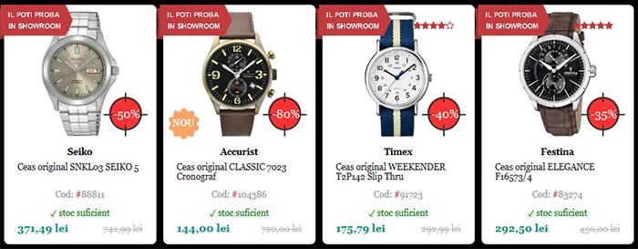 Ceasuri reducere Black Friday 2015 WatchShop
